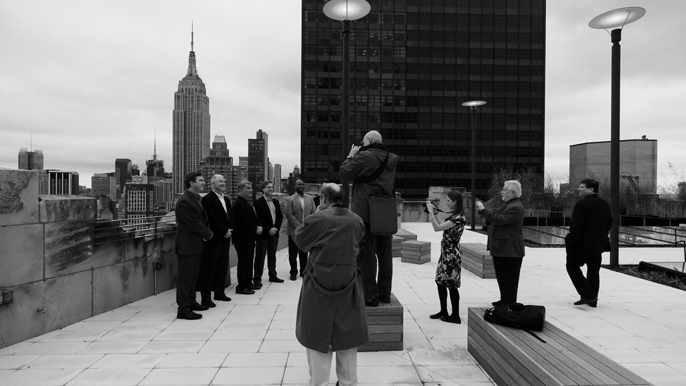 Members of Sony's Professional Services team, on the roof of Sony's new offices overlooking Madison Square Park in New York. Sony a6000   [ B&H | Amazon ]  with Zeiss Touit 12mm f/2.8   [ B&H | Amazon ]  by Hugh Brownstone