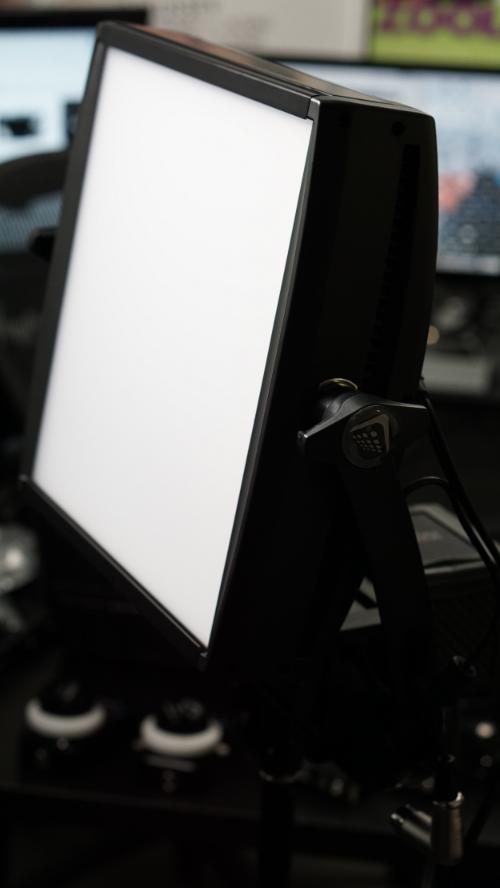Litepanels Astra 1x1 Soft Bi-Color LED Panel in the bat cave: beautiful light, beautiful design