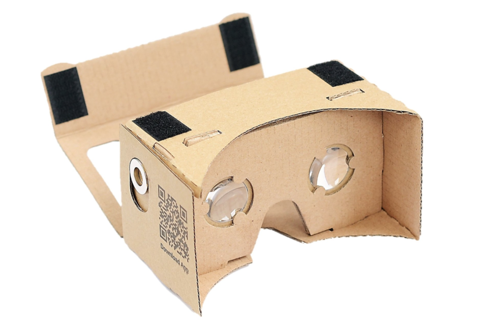Google Cardboard Kit by D-Scope, $16.95 at Amazon. This is the one I bought to try out with my iPhone 6s.