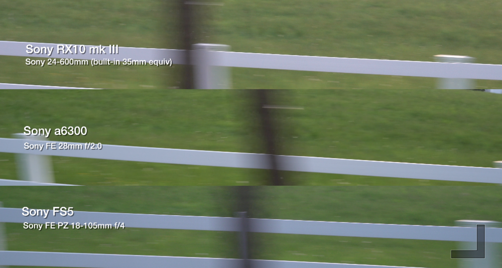 Screen grab from 4K rolling shutter test