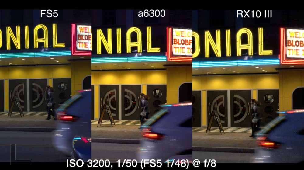 Screen grab from 4K low light test (all video shot in XAVC-S)