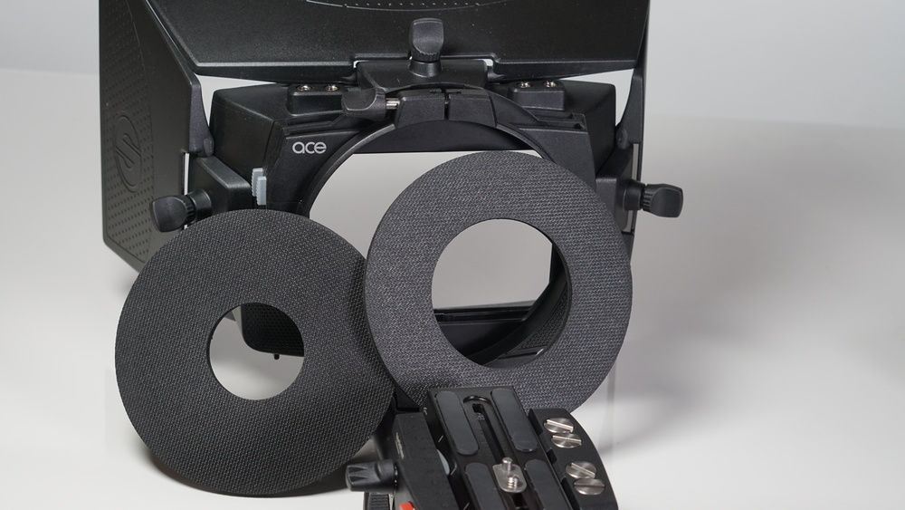 Sachtler Ace Matte Box comes with two different rubber donuts for different diameter lenses -- very nice --  but they may not fit your particular glas s.