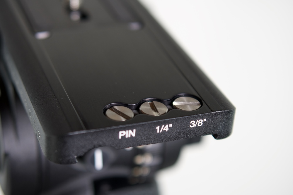 "The design team knew that tripod screws get lost, so they added three threaded holes at the end of the base into which the camera plate locks and include 3/8"", 1/4"" and pin replacements"