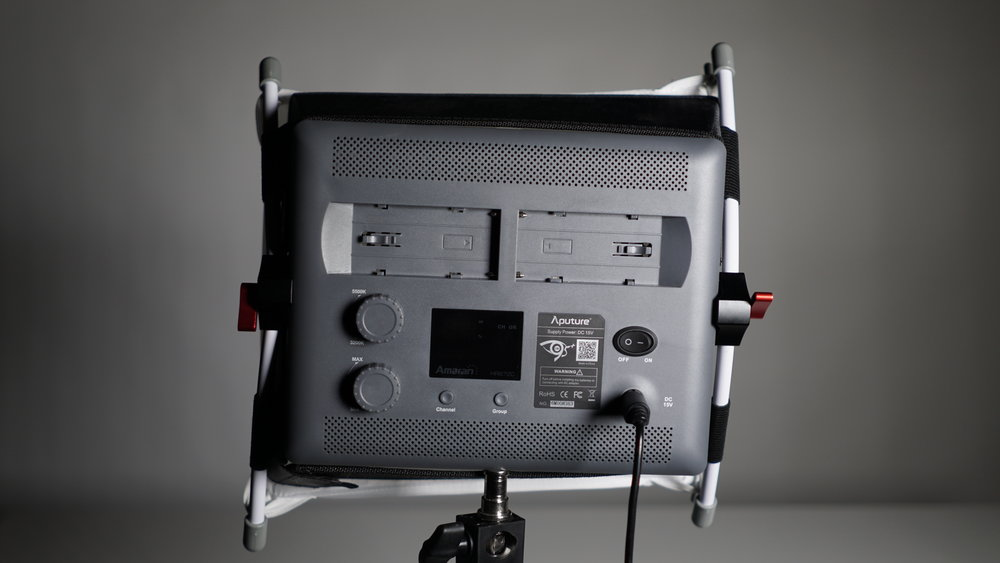 Still, the net result is that Aputure's EZ Box clears the air vents and controls much more easily than the D-Fuse. Now if only it had more surface area and the front diffuser fit more tightly.