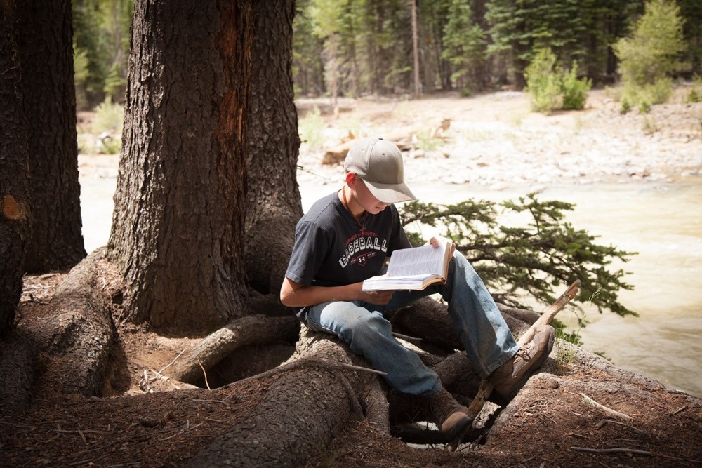 Studying God's word surrounded by His creation
