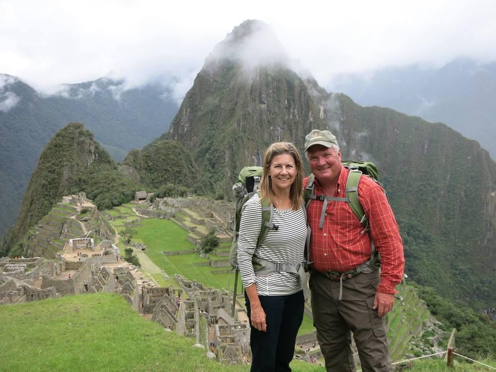 Jim & Mel near the top of Machu Picchu