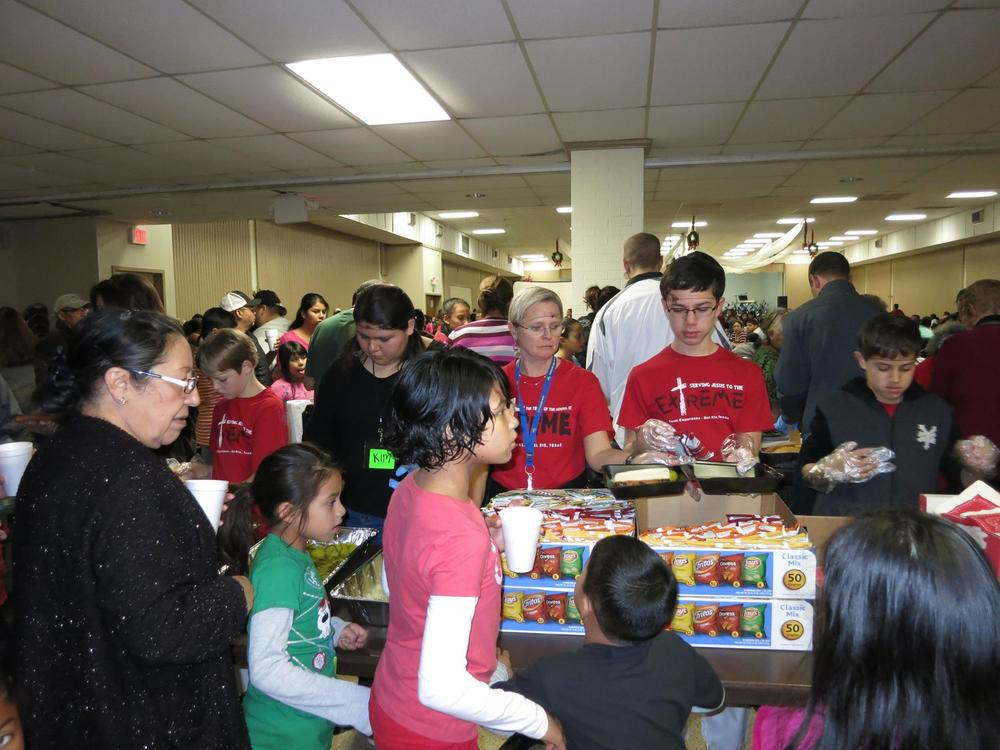 "This is what it looked like Sunday afternoon at the Del Rio Christmas Crusade. Tons of wonderful volunteers and guests turned out to hear the ""Truth"" about Christmas!"