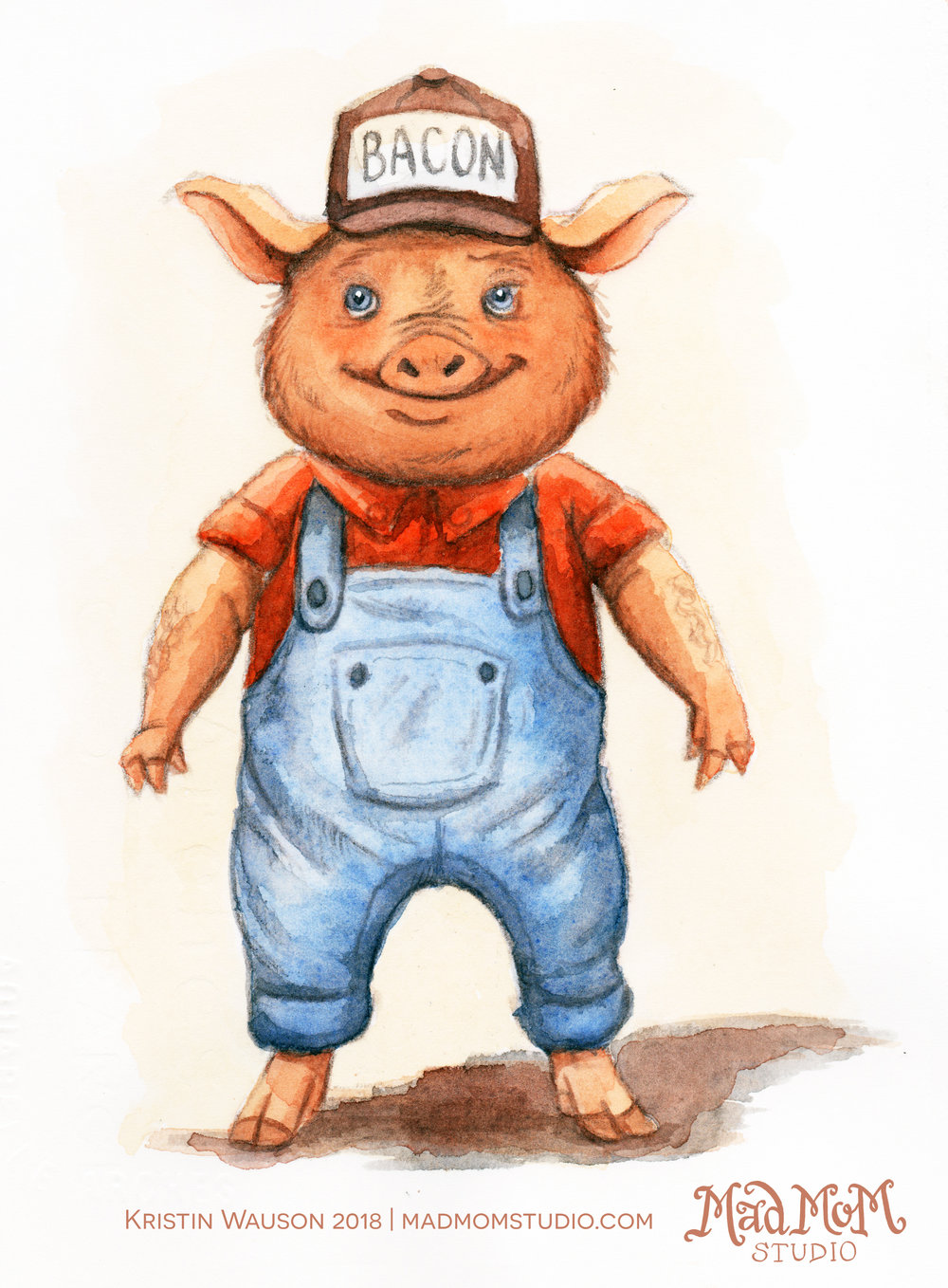 I used the Peter De Séve Method for this illustration of Chris P. Pig.