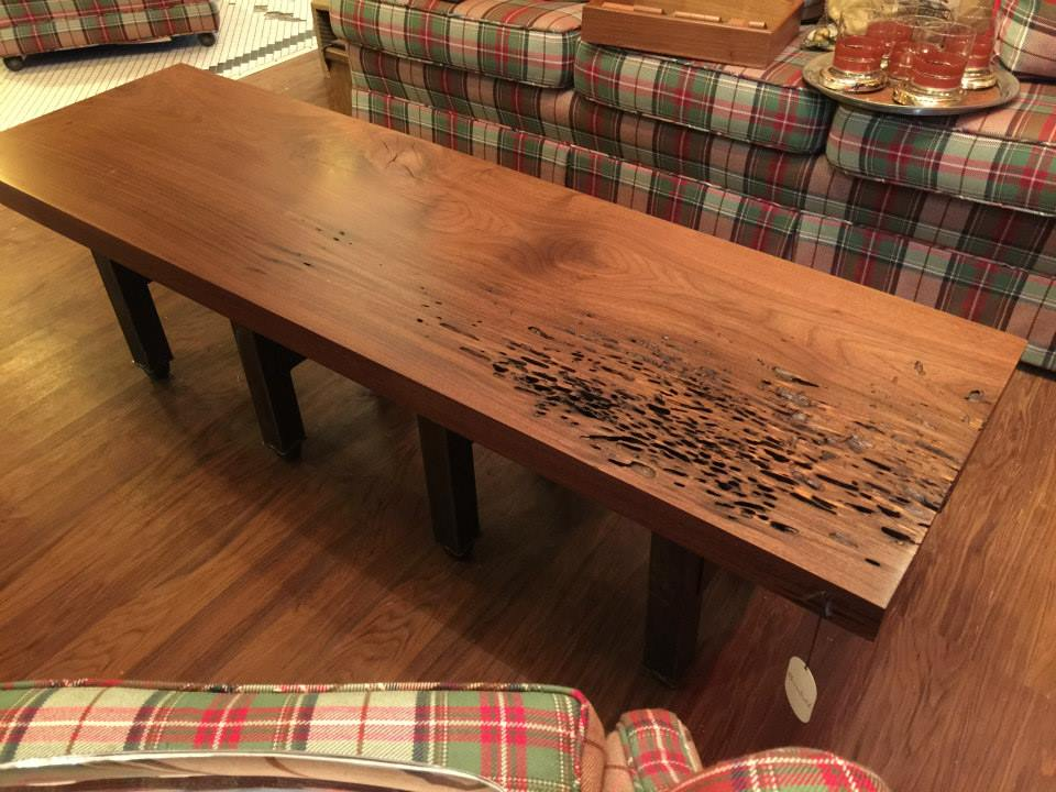Custom dining room tables, coffee tables, bookshelves, and more