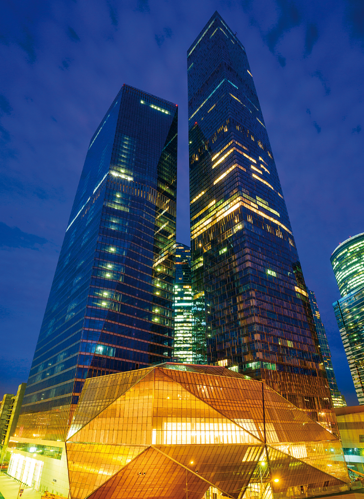Capital Group's 1,160-foot OKO tower in Moscow, completed last year: