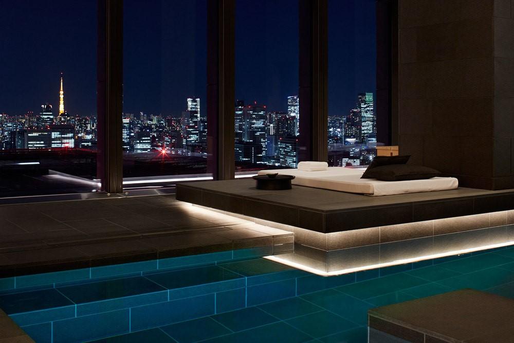 The pool at the Aman Tokyo. (Photo: Courtesy Aman Tokyo)