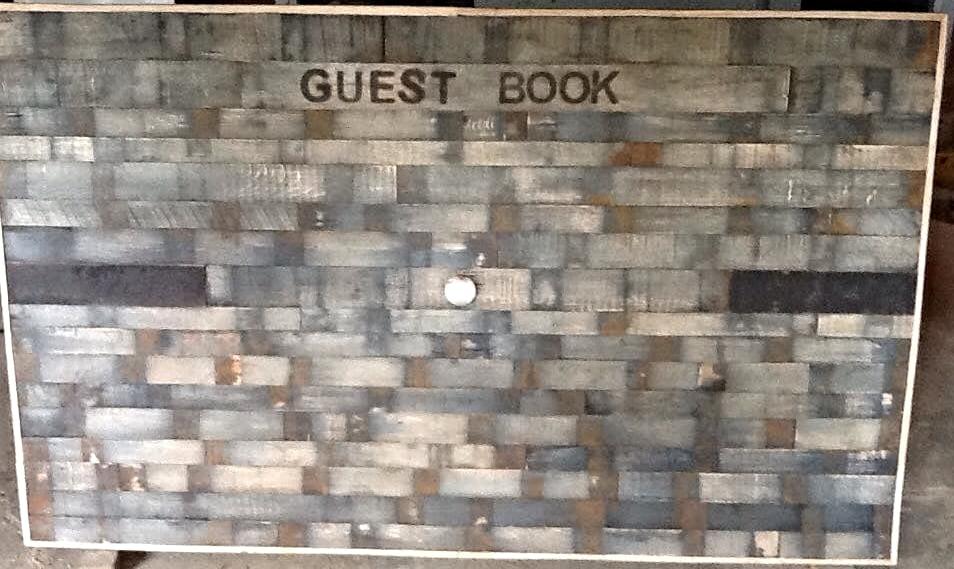 Barrel Wood Guest book