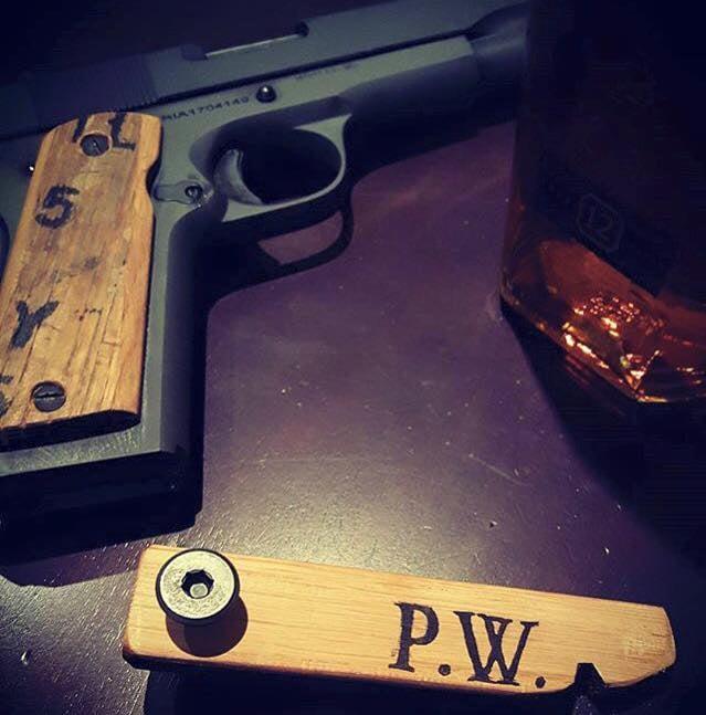 1911 Pistol Grips -distillery stamped
