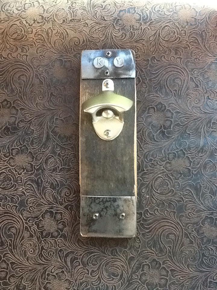 Barrel Stave wall bottle opener