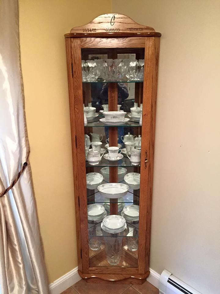 Loaded Corner curio cabinet