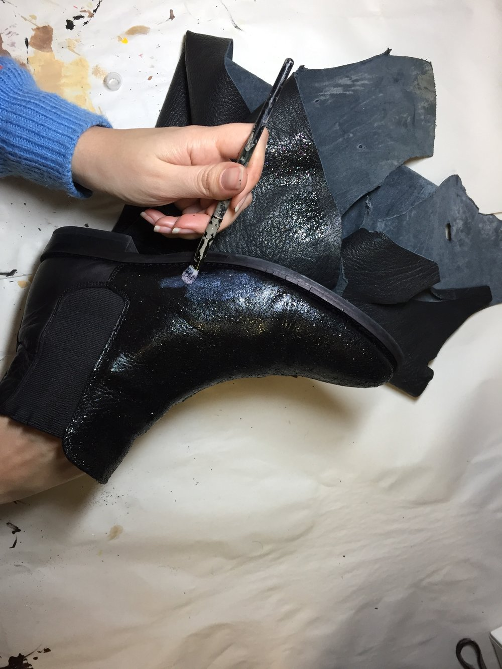 Glittered Chelsea Boots