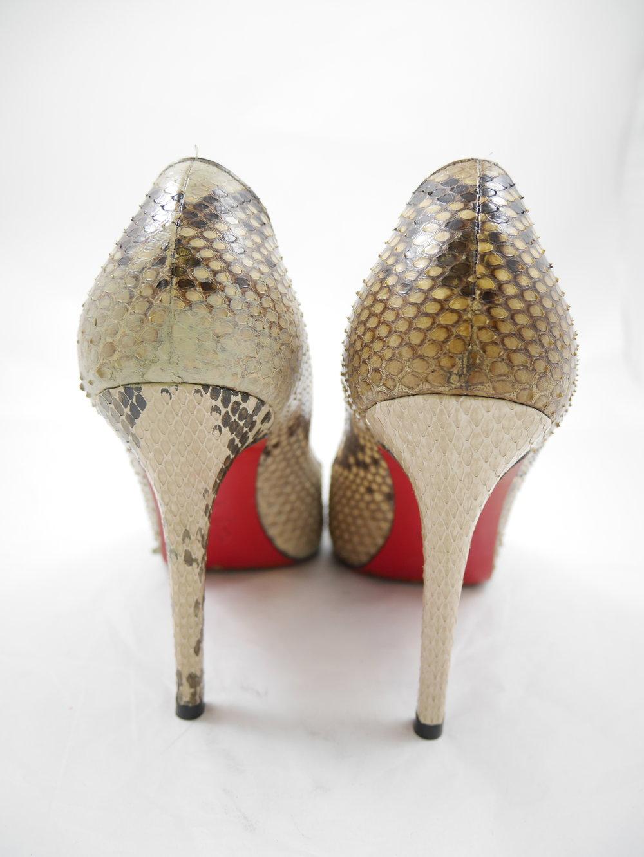 Left: Restored shoe & heel  Right: Work in process