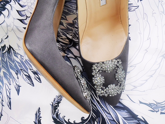 Result: Manolo Blahnik Hengisi pumps in Gunmetal Grey
