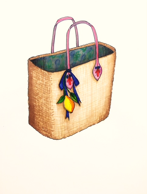 Tropical tote design
