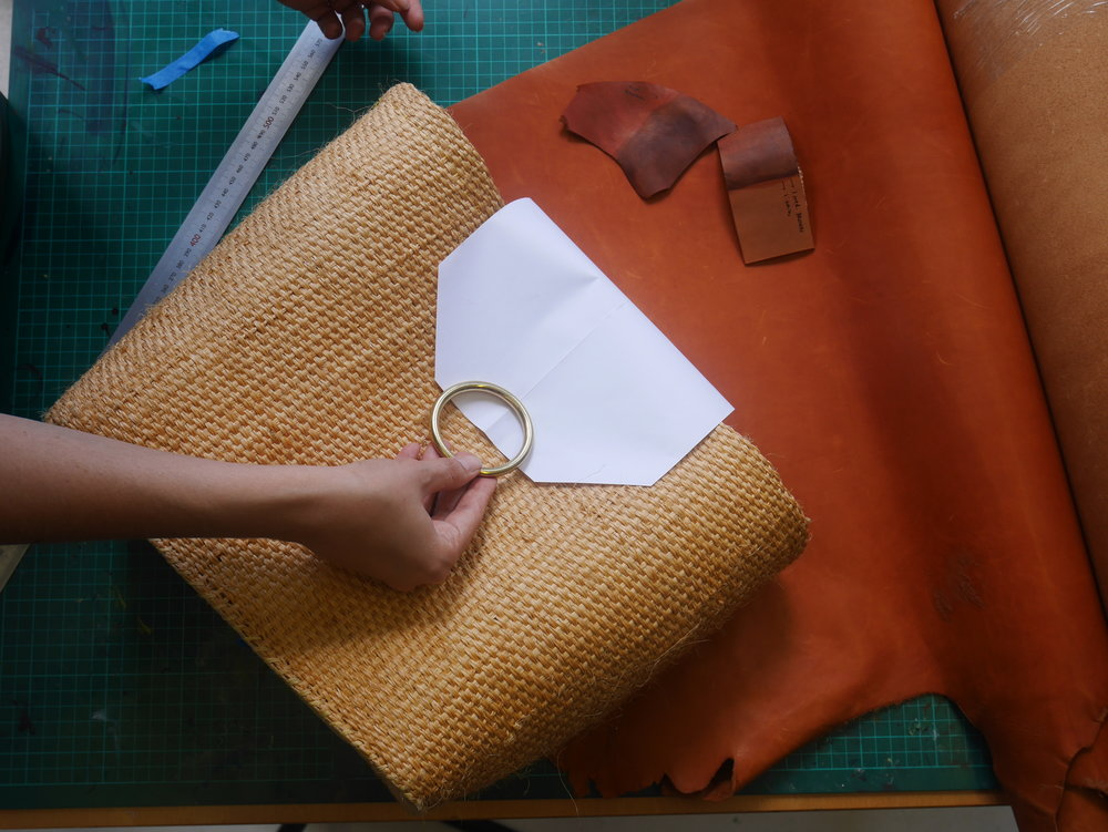 Taking measurements and creating patterns for the front flap