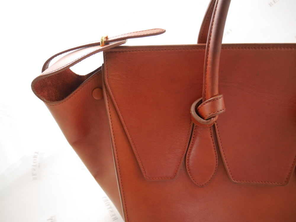 After: Céline Tie Tote in Brick