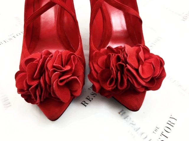Alexander McQueen Pom Flower Shoes