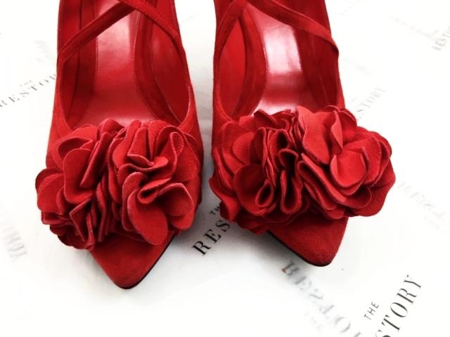 Alexander McQueen Pom Flower Shoes