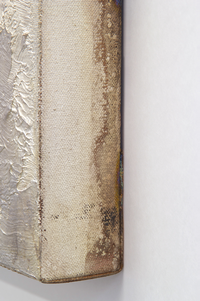 Type , 2014 (detail), copper electrotype, raw patina