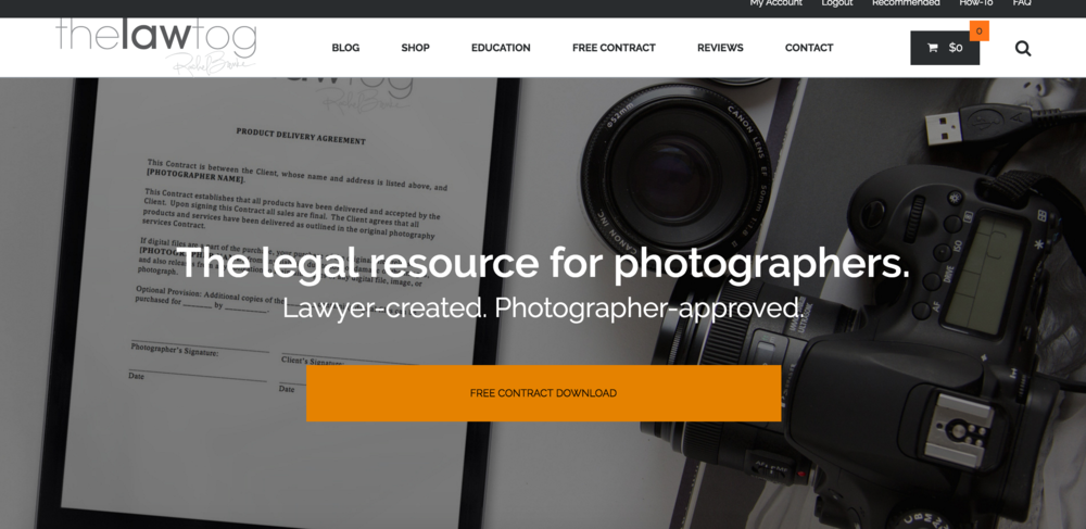 The lawtog, Legal photography resource, Photography business how-to