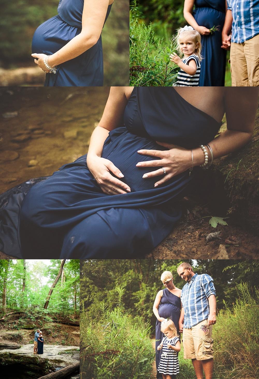 Dundee Falls Ohio, Intimate Maternity Portraits