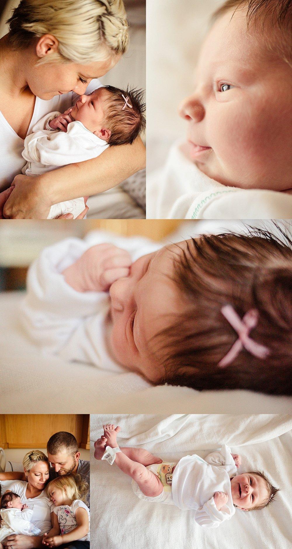 Akron Ohio Photography, In hospital newborn photography session, Millersburg Ohio