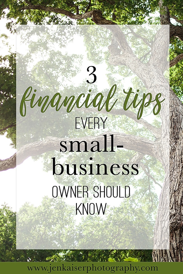 Three financial tips every small business owner should know