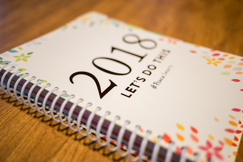 PowerSheets goal planner and 2018 personal goals