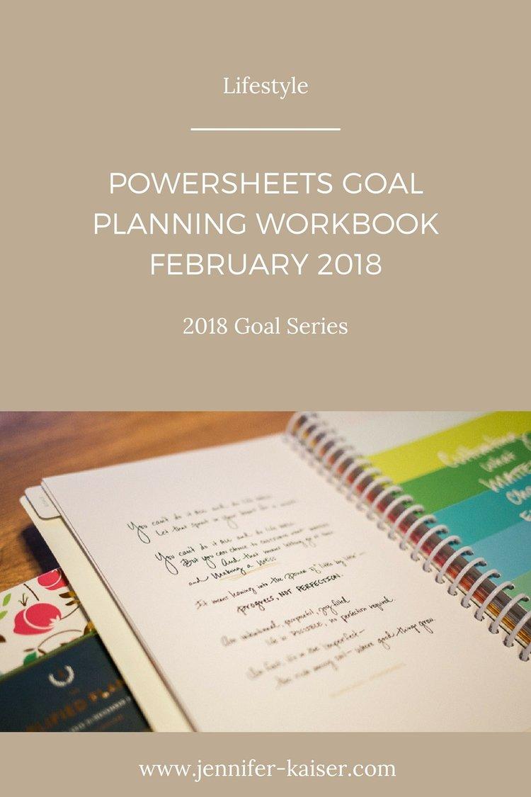 Workbooks goals workbook : PowerSheets Goal Check-In: February 2018 — Jennifer Kaiser