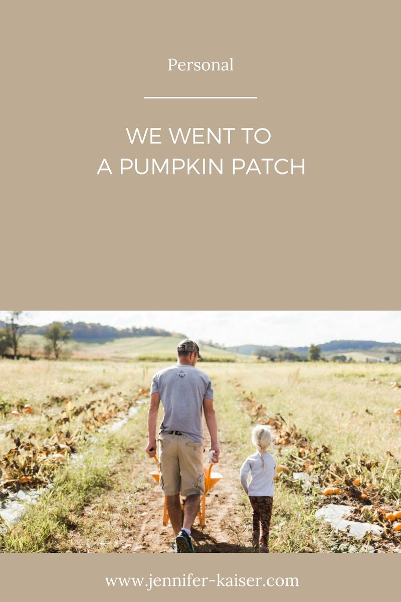 jen kaiser lifestyle blogger, October pumpkin patch