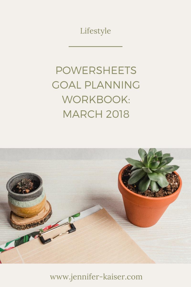 Powersheets Goal Planner, March Goals