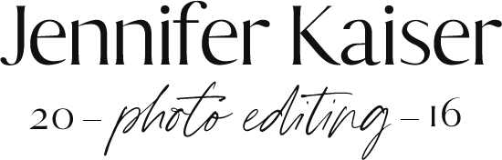 Jennifer Kaiser | Private Photo Editor For Wedding Photographers