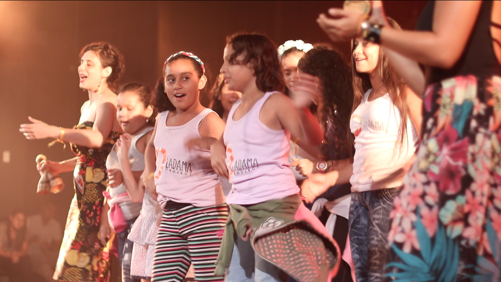 Students performing in Barquisimeto, Venezuela at Teatro Juares