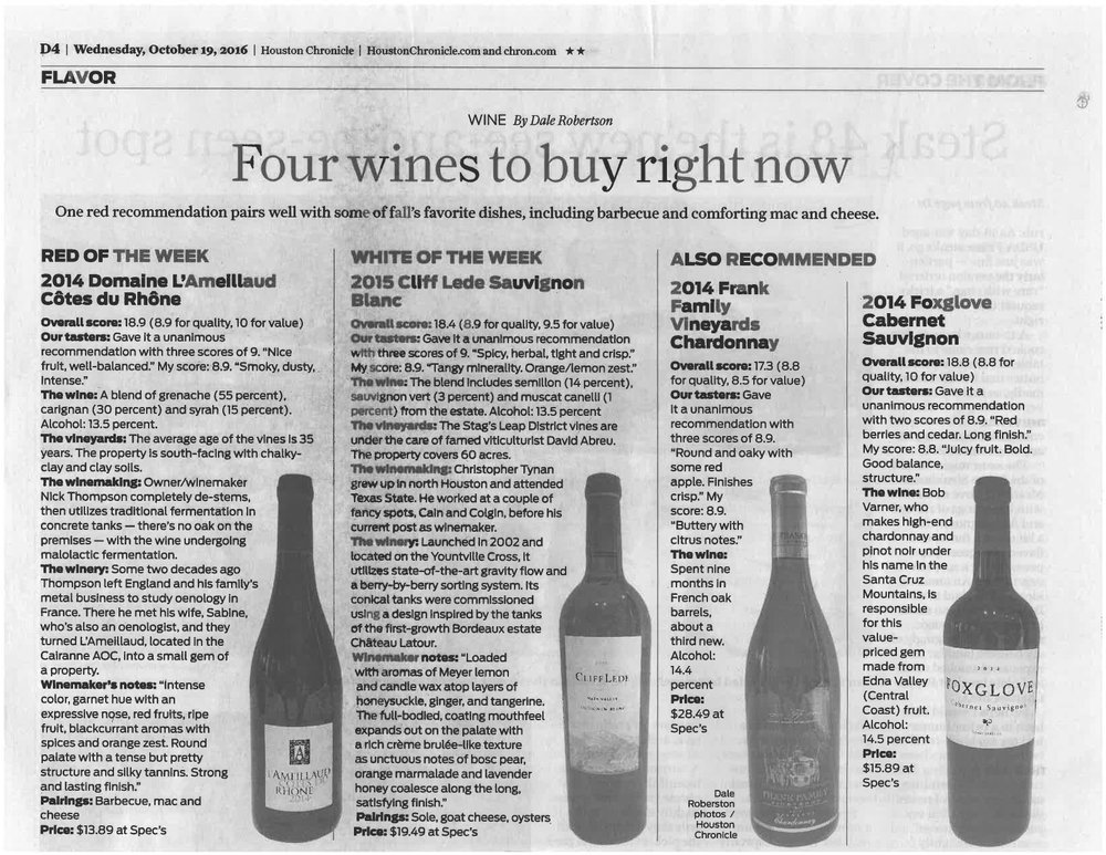 2014 Foxglove Cabernet Houston Chronicle.jpg