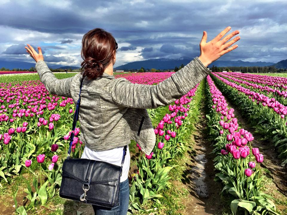 Picture taken at the Skagit Valley Tulip Festival - in Skagit Valley, WA.