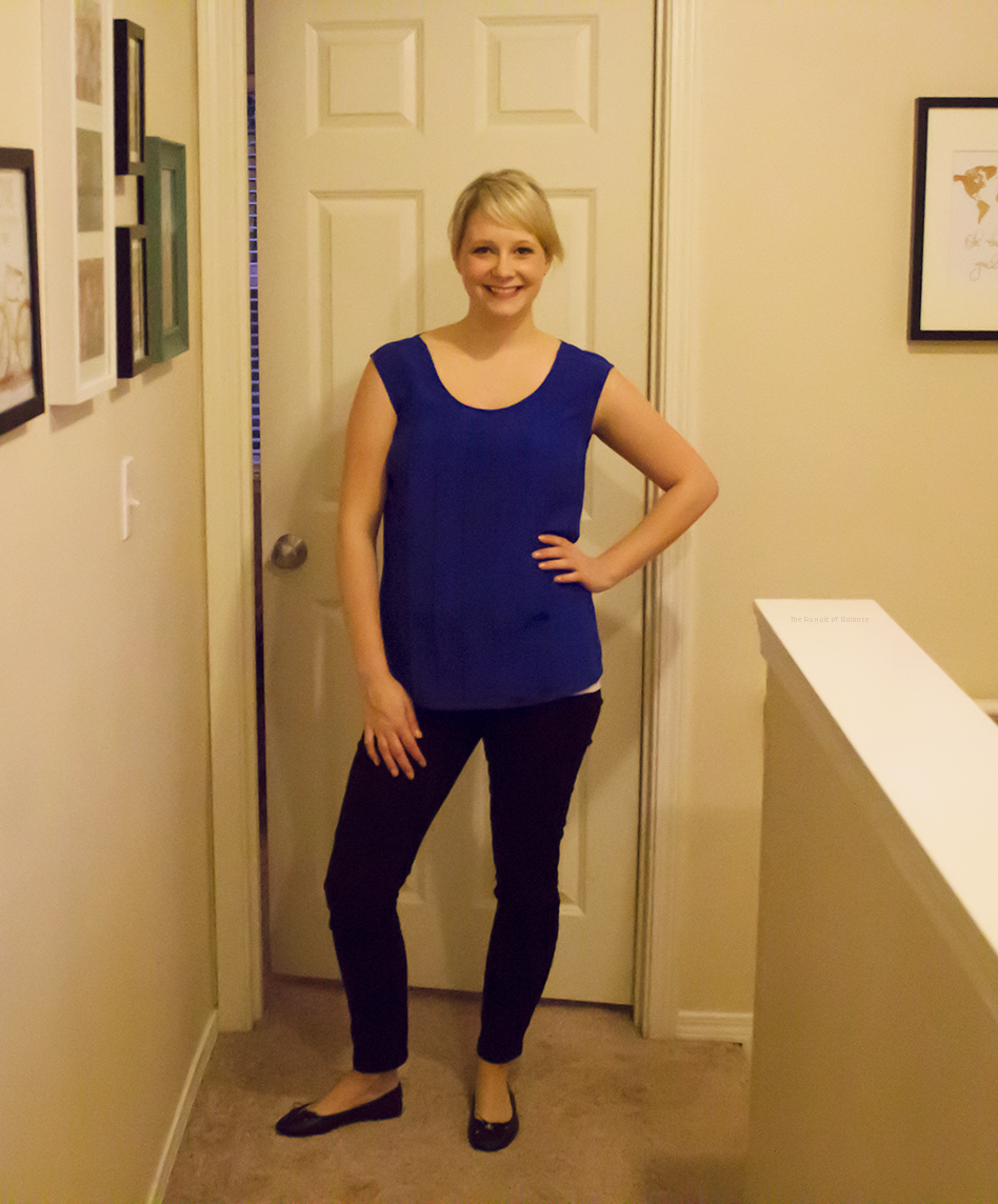 Jeans: previous fix. Shoes: Sam Edelman flats (on sale at the semi-annual)