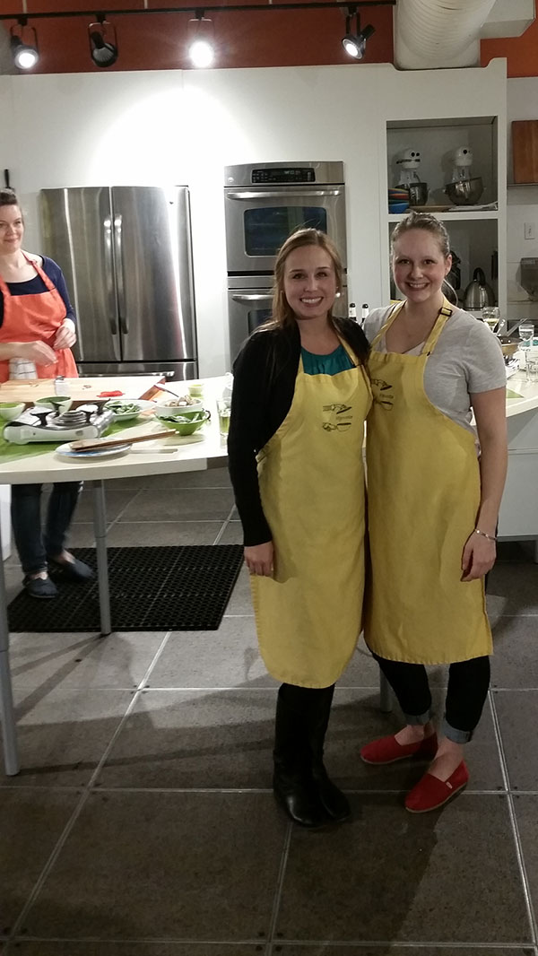 Hipcooks cooking class with alexis