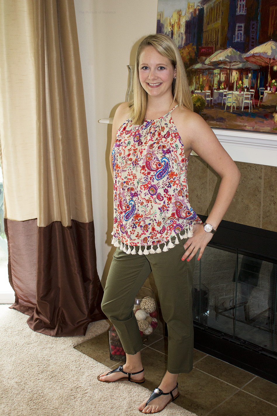Pants are Stitch Fix (see them in fuchsia below, a friend gave them to me, size 6, love them.