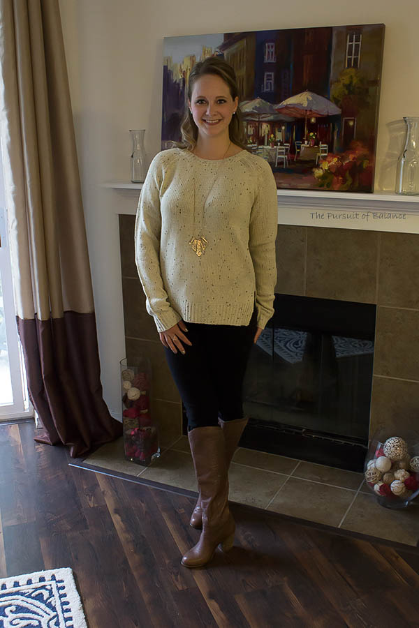 Market & Spruce Cotulla Button Back Sweater