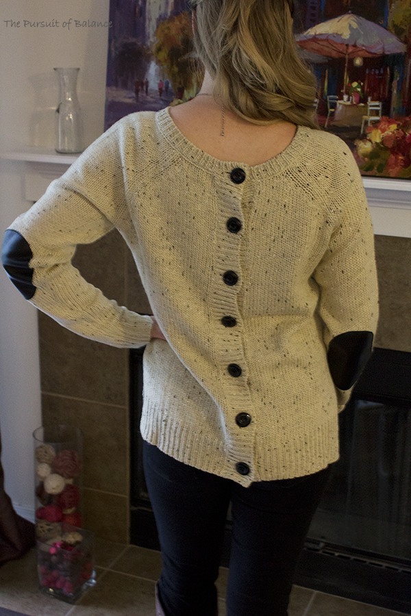 Market & Spruce Cotulla Button Back Sweater Back