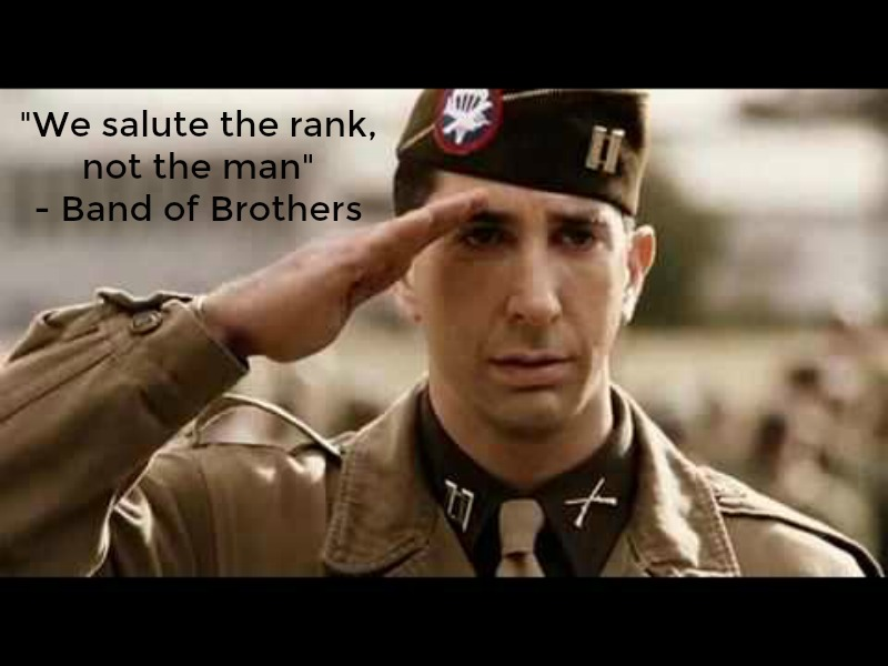image and quote from Band of Brothers