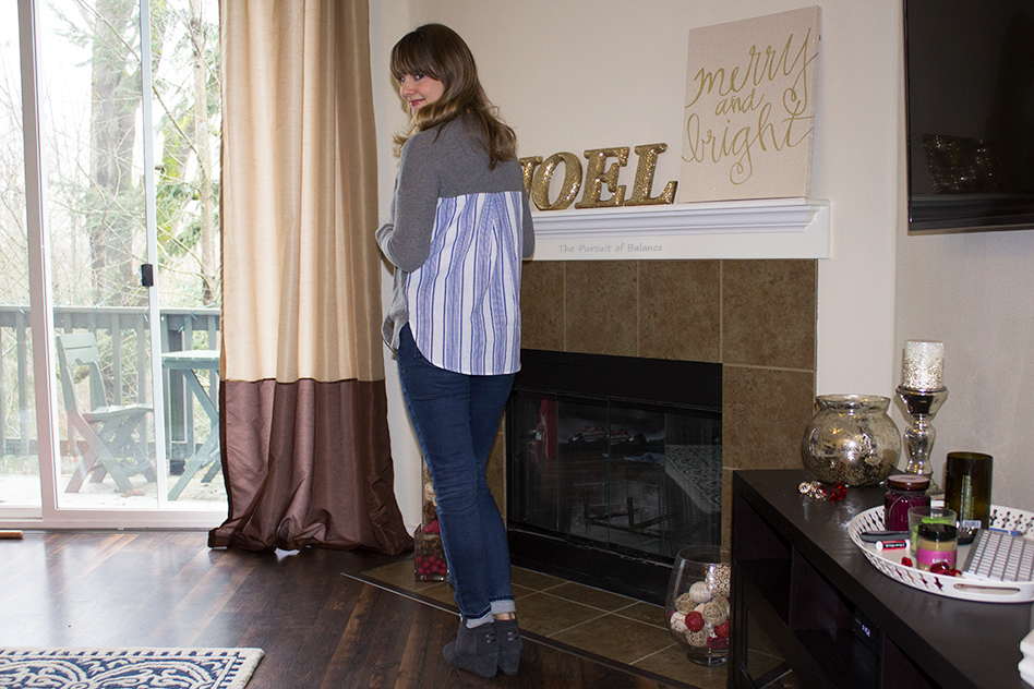 Coin 1804 Magdelena Striped Back Pullover Sweater Back