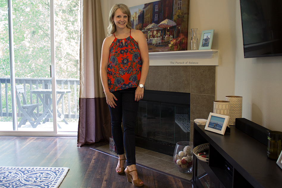 Collective Concepts - Krissa Keyhole Halter Blouse from Stitch Fix