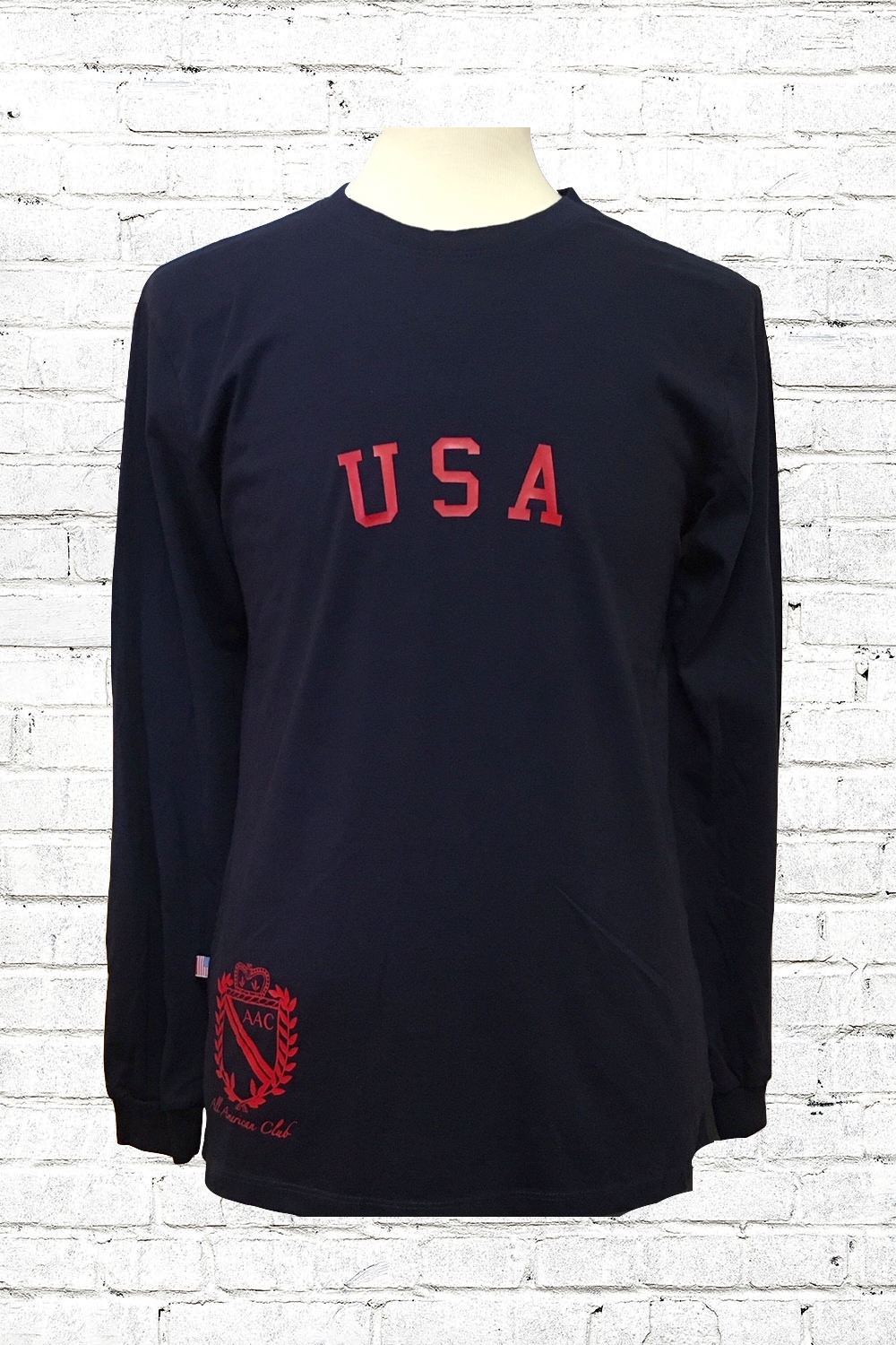 AAC USA Shirt - $42.00Homegrown. Homespun. Homemade. Right here in the USA. This is the softest, most durable cotton you will ever touch.100% CottonClassic fit.Available in: Navy with RedWhite with RedWhite with NavyMade in the USA.BUY NOW
