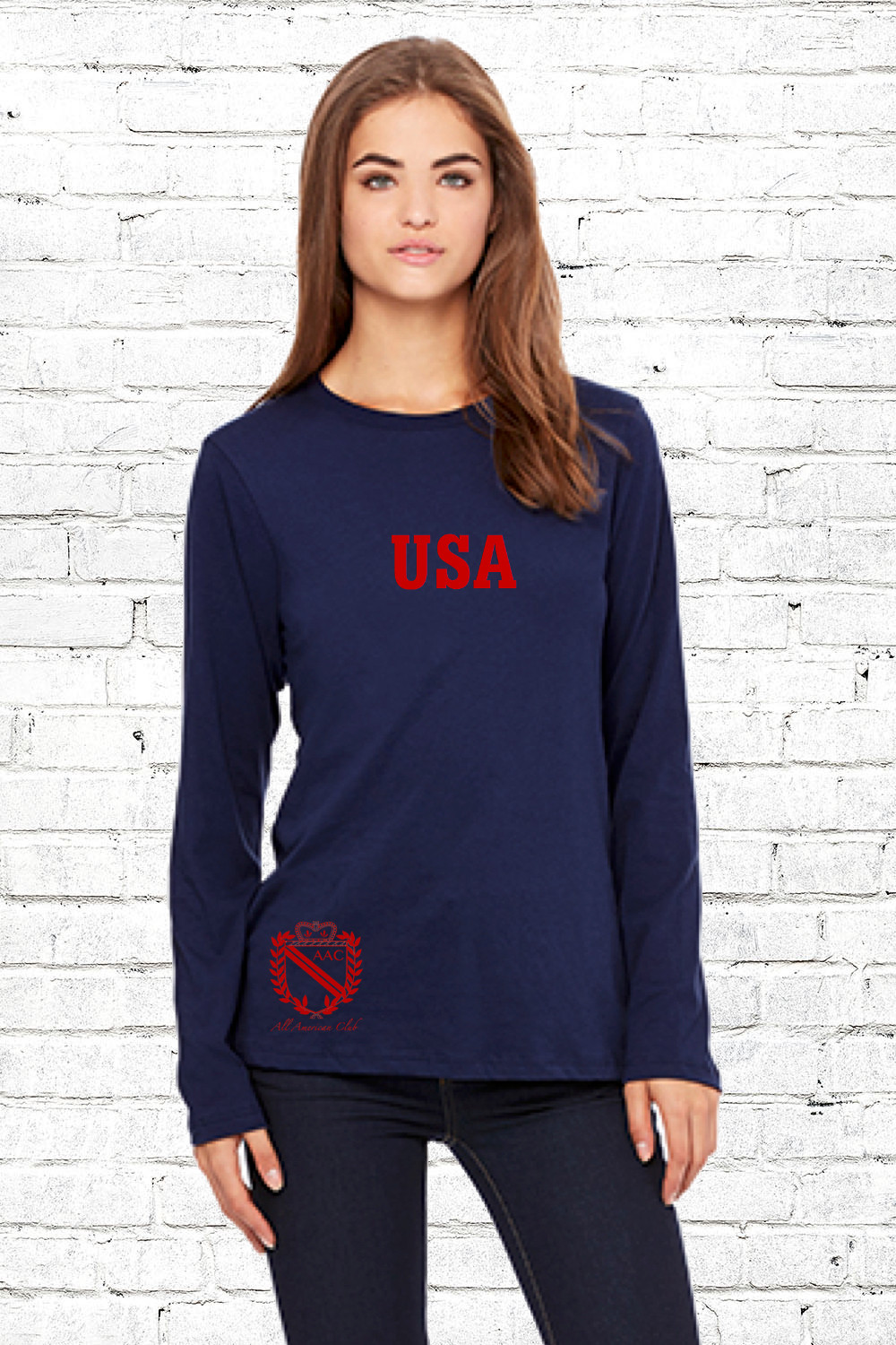 AAC USA Shirt - $42.00Homegrown. Homespun. Homemade. Right here in the USA. This is the softest, most durable cotton you will ever touch.Unisex. 100% CottonClassic fit.Available in: Navy with RedNavy with WhiteMade in the USA.BUY NOW
